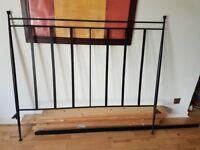 Metal Kingsize Bed Frame + matching bedside table