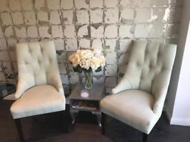 2x fabric chairs