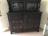 Dark Oak Buffet Cabinet