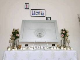 Entrance Tables for Weddings, Receptions, Wedding decorations, Guest book, Magic Mirror etc...