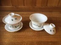 Chinese lidded tea cups
