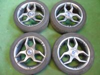 "FIAT ABARTH 17"" ALLOY WHEELS WITH TYRES"