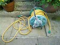 Hose pipe on stand with fittings