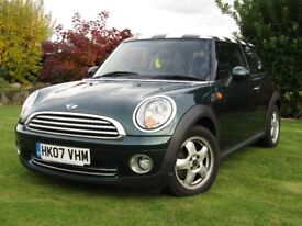 07 Mini One - Green with Check Roof - 68000 miles - MOT 11/18