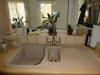 Astrocast sink unit - Island Sand colour, 1 & 1/2 bowl, right hand drainer.
