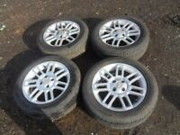 ALLOY WHEELS AND BRAND NEW RAPID TYRES 205/55/16 BIRTLEY AREA