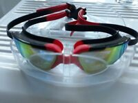 swimming goggles.hyblc black and red