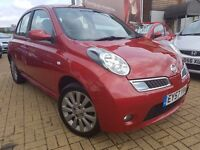 Nissan Micra 1.2 16v Tekna,reg2008 5dr.LOW MILEAGE(WARRENTED)LOVELY FAMILY RED CAR 5 SEATS