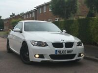 ★ 2008 BMW 320i M SPORT COUPE 2 DOOR + M3 ALLOYS + WHITE + 170 BHP ★
