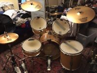 Arbiter AT Maple Drums, Cases, Sabian Cymbals, Pearl Pedals