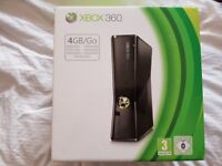 Xbox 360 Slim 4GB Black *Boxed* with 2 Black Controllers
