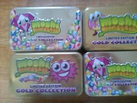 Moshi Monsters Collection - Rares, Moshlings, Gold inc' 150+ Game Cards + 4 Collectors Tins