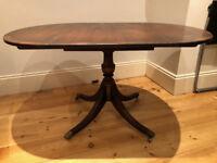 Drop Leaf Mahogany Dining Table