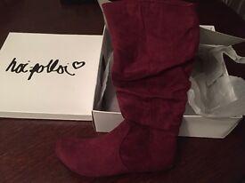 Hoi Polloi women's boots- size 3 - wine colour