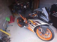 KTM RC390 With Fluro Decals pack and Meta M1 Alarm Px Considered