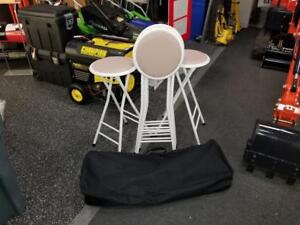 Brand New Sets of 4 Collapsible Stools - Comes w/ Travel Case - Only $75!