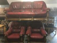 3 11 leather sofas set