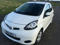 2011- 61 Reg Toyota AYGO 5-DR 1.0 VVT-i Go! 5dr SAT NAV, Bluetooth connectivity