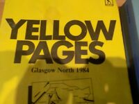 old yellow pages and phone directory