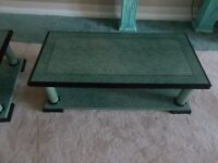 LARGE COFFEE TABLE MARBLE GREEN EFFECT