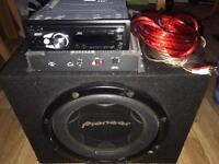 Sub, Amp and CD player for sale
