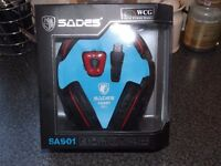 WCG Sades Gaming Headset With Microphone