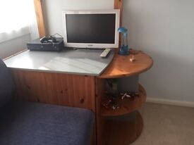 Stompa Casa High Sleeper with futon bed and pull out desk