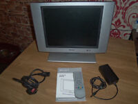 TV dvd OR PC monitor as new not 1 mark or scratch comes with remote