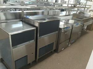 BREMA COMMERCIAL ICE MACHINE (MADE IN ITALY), UNDERCOUNTER ICE MAKER, CUBE MAKER, RESTAURANT ICE CUBE MACHINE