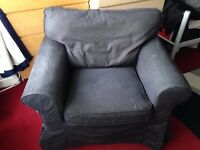 IKEA EKTORP ARMCHAIR DARK GREY