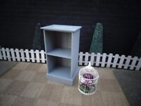 SOLID PINE SHELF CABINET PAINTED WITH LAURA ASHLEY PARIS GREY VERY SOLID CABINET