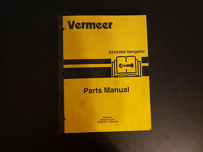 Used Vermeer D24x40a Parts Manual