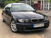 BMW 3 Series 2.2 320Ci automatic Facelift 2dr SUNROOF FSH 12 MONTH MOT 2 KEYS 1 OWNER LOW MILEAGE