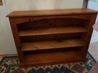 Pine Bookcase with two shelves.