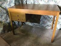 1970s Golden oak desk in good condition