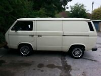 vw t25 t3 transporter panel van tin top 1.6 diesel 5 speed