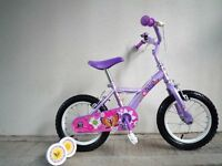 "(2086) 14"" 9"" APOLLO PETAL Girls Kids Childs Bike Bicycle + STABILISERS; Age: 3-5; Height: 95-110 cm"