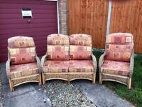 Rattan furniture set for conservatory or garden