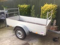 """Indespension aluminium 6ft 7"""" x 3ft 4"""" trailer + cover/ladder racks"""