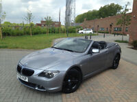 BMW 630 MSPORT CONVERTIBLE .XENONS. HEATED SEATS. PARKING SENSORS. 1 YEAR MOT.LOW MILEAGE.SUPERB CAR