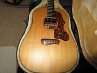 Tacoma DM9 Acoustic guitar (with pickup) plus original hard case. Made in USA.