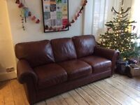 3 seat leather sofa couch. Excellent condition!