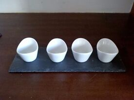New Slate Natural Serving Dipping Set x 2