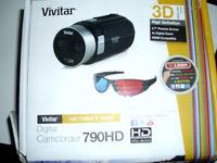 3D digital camcorder with 3D glasses