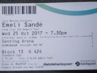 2 x Emlie Sande tickets Birmingham Genting Arena.