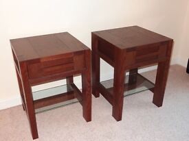 Pair M&S Sonoma Side Table (Dark Wood) RRP £249.00 each - Marks and Spencer