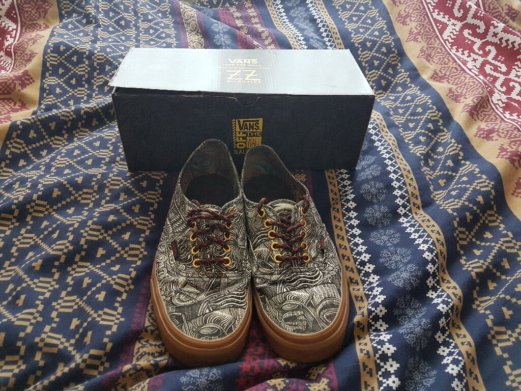 4fee0bf787 Vans Authentic (OTW Gallery) Zio Ziegler Mens Gum Sneakers - Size 10.5