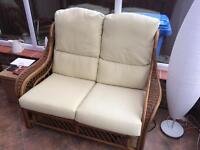 Conservatory Wicker 2 seater and single seat chairs.