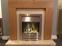 Blyss Ferndown (Oak) Complete Fireplace Suite