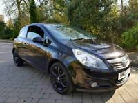 Vauxhall Corsa SXi, 1.2 petrol 2010 in black with 12 months MOT
